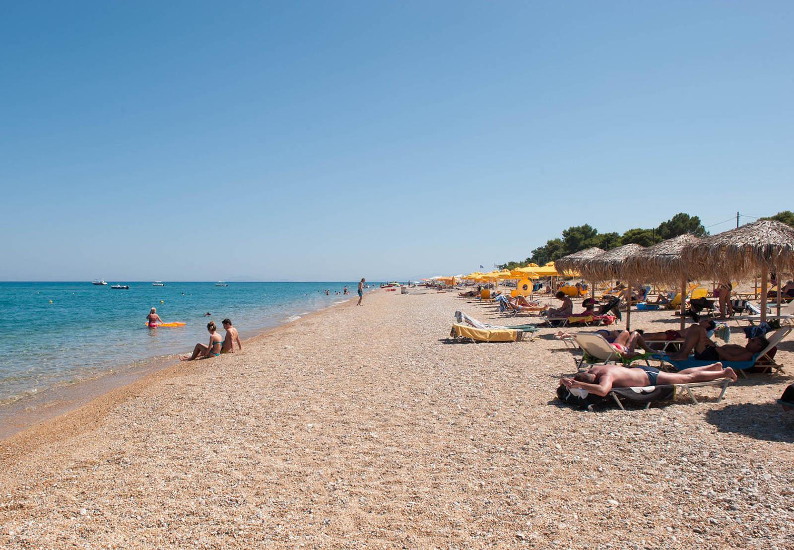 Beach in Skala Kefalonia | Melidron Hotel